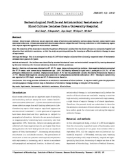 ORIGINAL ARTICLE Bacteriological Profile and Antimicro