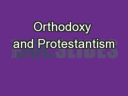 Orthodoxy and Protestantism
