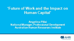 'Future of Work and the Impact on Human Capital'