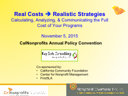 Real Costs PowerPoint PPT Presentation