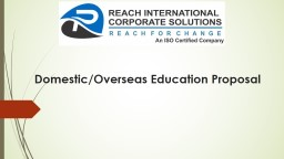 Domestic/Overseas Education Proposal