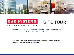 September 10, 2015 · BAE Systems Resource Center · Charlo
