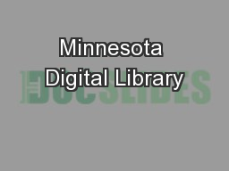 Minnesota Digital Library