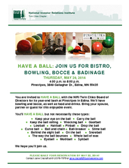 HAVE A BALL JOIN US FOR BISTRO BOWLING BOCCE BADINAGE