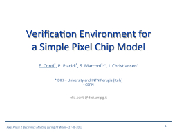 Verification Environment for a Simple Pixel Chip Model