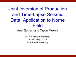 Joint Inversion of Production and Time-Lapse Seismic Data: