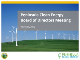 Peninsula Clean Energy PowerPoint PPT Presentation
