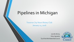 Pipeline Safety in Michigan