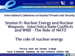 International Conference on Nuclear Threats and Security