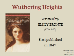 Wuthering PowerPoint PPT Presentation