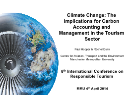 Climate Change: The Implications for Carbon Accounting and