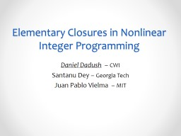 Elementary Closures in Nonlinear Integer Programming