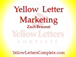 Yellow Letter PowerPoint PPT Presentation