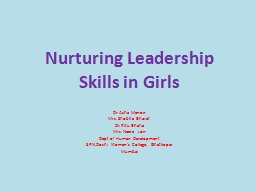 Nurturing Leadership Skills in Girls