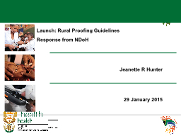 Launch: Rural Proofing Guidelines PowerPoint PPT Presentation