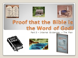 Proof that the Bible is the Word of God!
