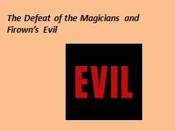 The Defeat of the Magicians and
