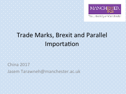 Trade Marks, PowerPoint PPT Presentation