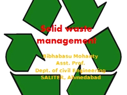Solid waste management PowerPoint PPT Presentation