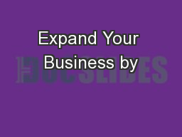 Expand Your Business by