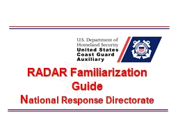 RADAR Familiarization Guide