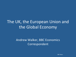 The UK, the European Union and the Global Economy