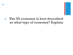 The US economy is best described as what type of economy? E