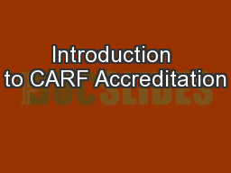 Introduction to CARF Accreditation