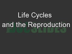 Life Cycles and the Reproduction