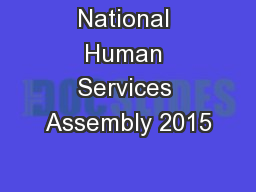 National Human Services Assembly 2015