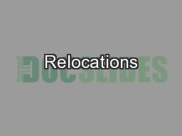 Relocations