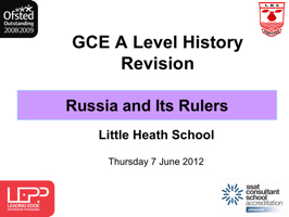 GCE A Level History