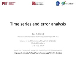 Time series and error