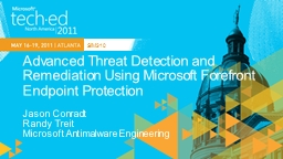 Advanced Threat Detection and Remediation Using Microsoft F