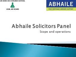 Abhaile Solicitors Panel