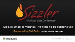 Mobile Email Templates: It's time to go responsive!