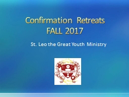 Confirmation Retreats