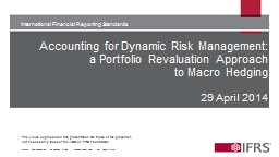 Accounting for Dynamic Risk