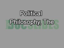 Political Philosophy, The