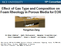 Effect of Gas Type and Composition on Foam Rheology in Poro