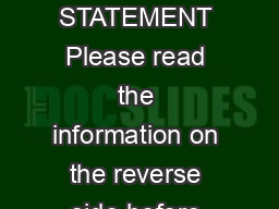 Form   DAMAGE DISCLOSURE STATEMENT Please read the information on the reverse side before completing this form