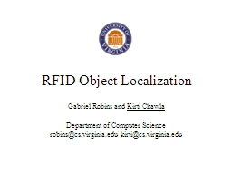 RFID Object Localization