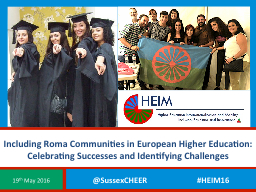Including Roma Communities in European Higher Education: Ce