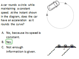 A car rounds a circle while maintaining a constant speed. A PowerPoint PPT Presentation