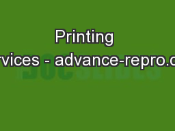 Printing Services - advance-repro.com