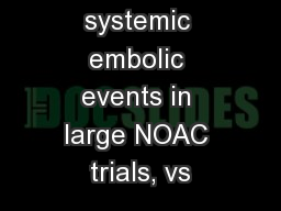 Stroke or systemic embolic events in large NOAC trials, vs