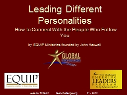Leading Different Personalities PowerPoint PPT Presentation