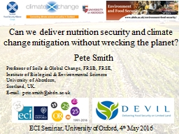 Can we deliver nutrition security and climate change mitiga