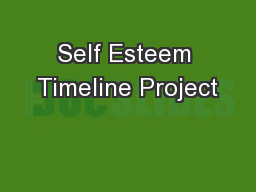 Self Esteem Timeline Project