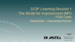 DCIP Learning Session 1